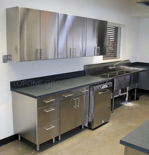 best 10 metal kitchen cabinets ideas on pinterest hanging kitchen cabinets traditional open kitchens and minimalist style open kitchens - Stainless Steel Kitchen Ideas