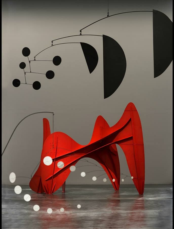 Alexander Calder (USA 1898-1976), at the Los Angeles County Museum of Art