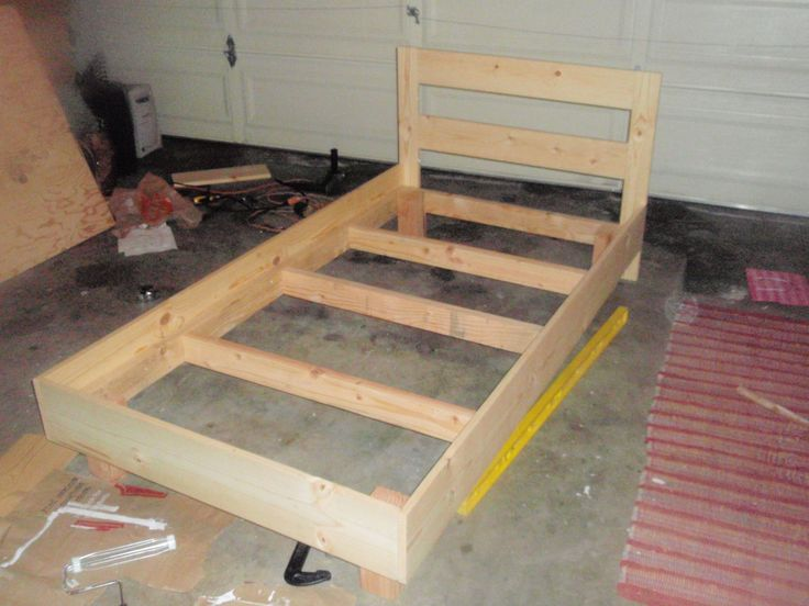 best 20 homemade bed frames ideas on pinterest homemade spare bedroom furniture build a platform bed and homemade furniture - Twin Bed And Frame