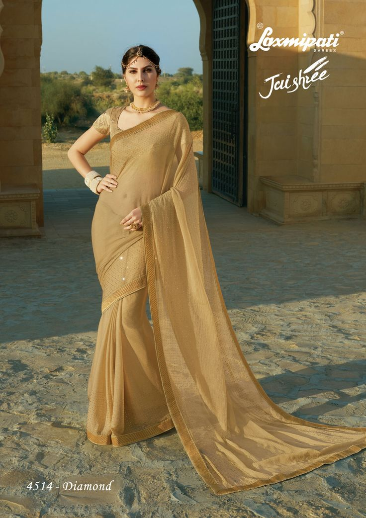 Buy this Exclusive Light Brown Chiffon Stonework Saree and Brown Jari Embroidered Blouse along with Fancy Embroidery Lace Border Online from Laxmipati.com in USA, UK, Canada, India. Shop Now! #Catalogue- #JAISHREE #DesignNumber: 4514 #Price - ₹ 3658.00  #Bridal #ReadyToWear #Wedding #Apparel #Art #Autumn #Black #Border #MakeInIndia #CasualSarees #Clothing #ColoursOfIndia #Couture #Designer #Designersarees #Dress #Dubaifashion #Ecomm