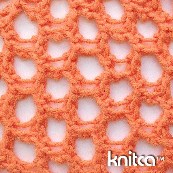 Wrong side of knitting stitch pattern – Lace 20 : www.knitca.com