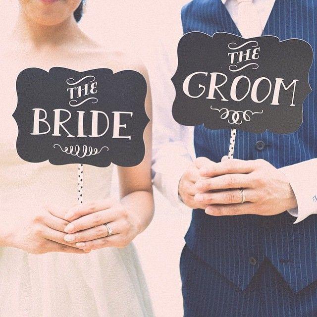 品良くおしゃれに! <結婚式フォトプロップス>シンプル一覧