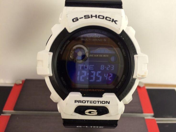 Casio G-Shock GWX-8900B Tough Solar G-Lide Watch Used WR 20 Bar,  Moon Graph #Casio #Sport