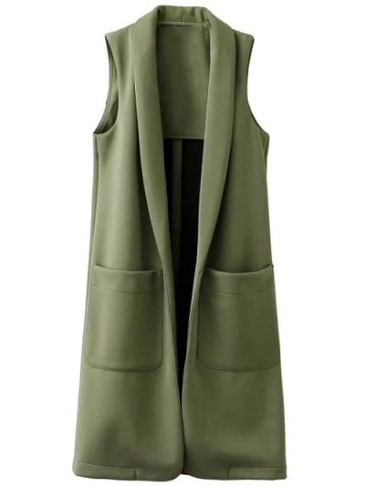 SHARE & Get it FREE | Pockets Turn-Down Collar Long WaistcoatFor Fashion Lovers only:80,000+ Items • New Arrivals Daily Join Zaful: Get YOUR $50 NOW!