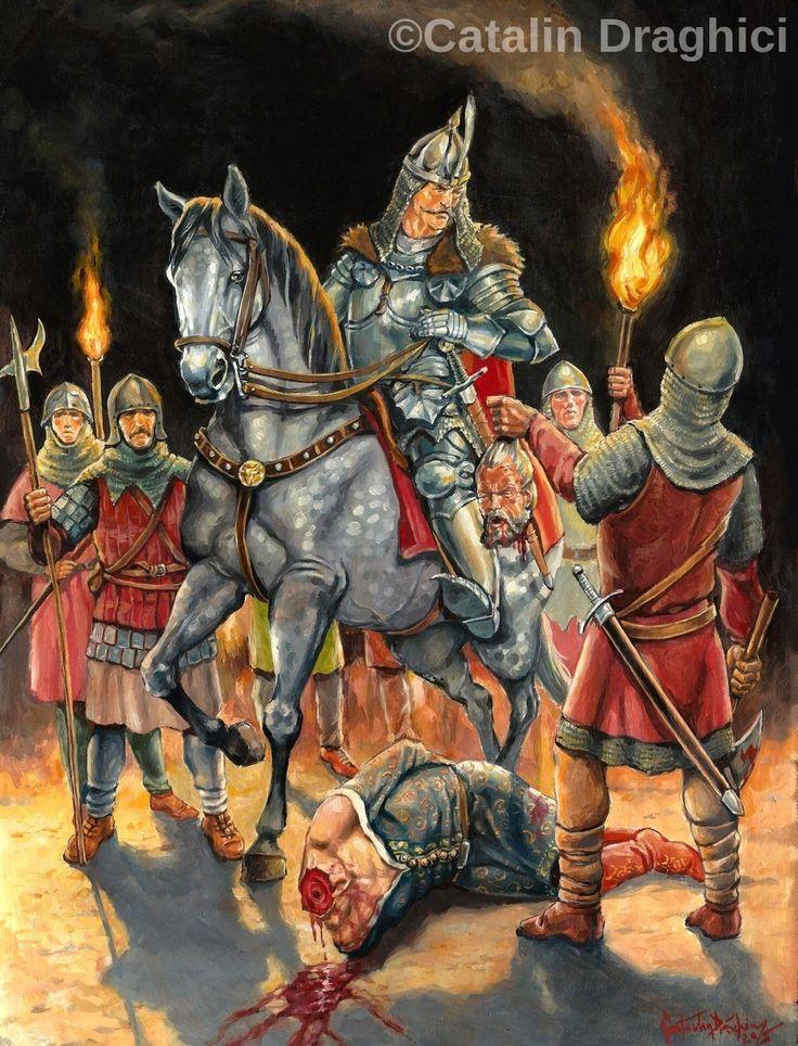 Stefan cel Mare si capul lui Petru Aron