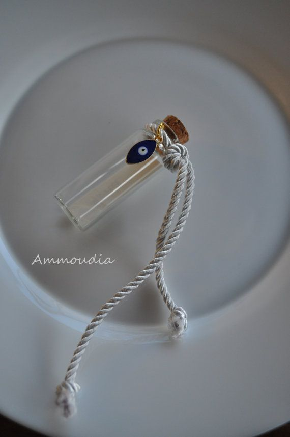 Beach wedding place cards-message in a bottle  beach by AMMOUDIA