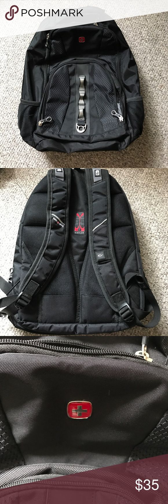 Backpack Swiss gear backpack with tons of compartments, laptop compartment with Velcro strap to keep laptop in place, outside water bottle pockets on both sides, like brand new and only used twice! Swiss Gear Bags Backpacks
