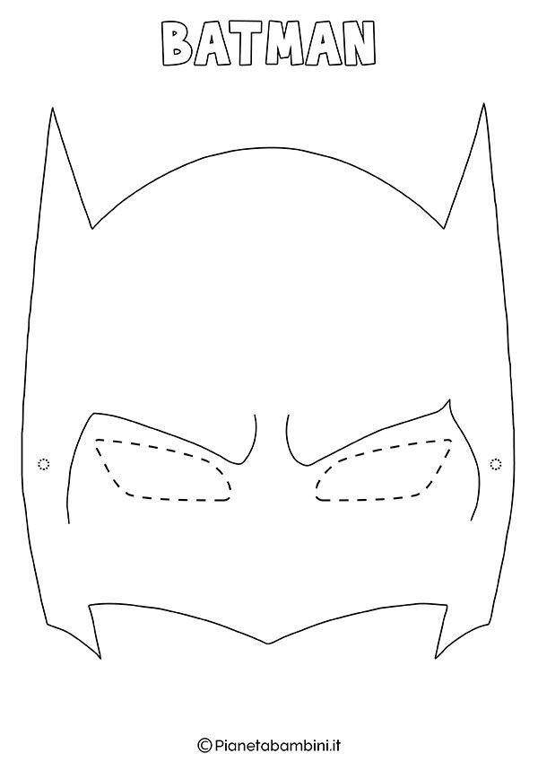 Maschere Di Supereroi Da Colorare Per Bambini Bambini Batman