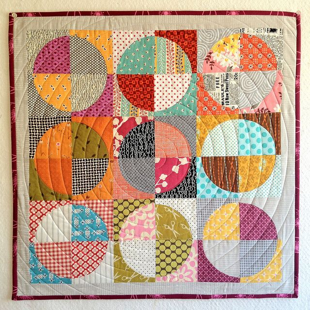 drunkards path quilt by i like orange