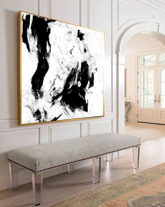 Large Abstract Art Original Abstract Painting Black And