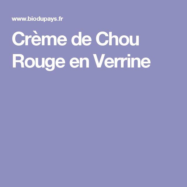 Crème de Chou Rouge en Verrine
