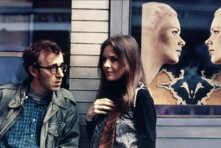 Woody Allen and Diane Keaton on the set of Annie Hall (1977)