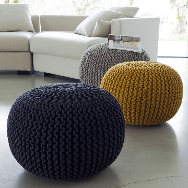 pouf maille tricot e jakob am pm la redoute 995 http. Black Bedroom Furniture Sets. Home Design Ideas