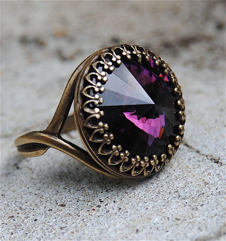 Swarovski Amethyst Ring...Zoey's birthstone! Gorgeous!