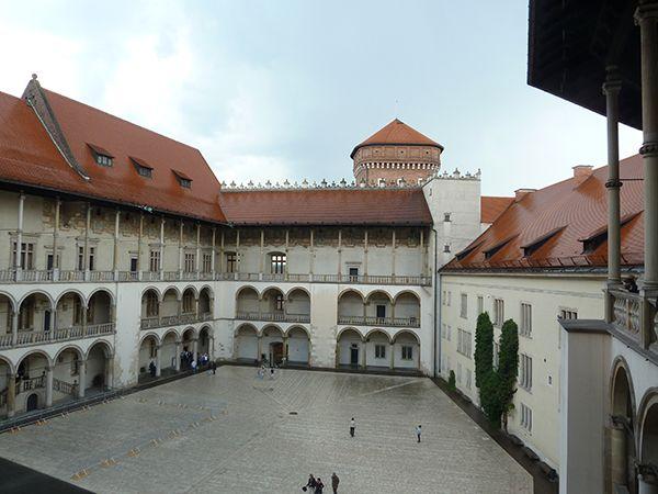 Wawel-Schloss nach dem Regen