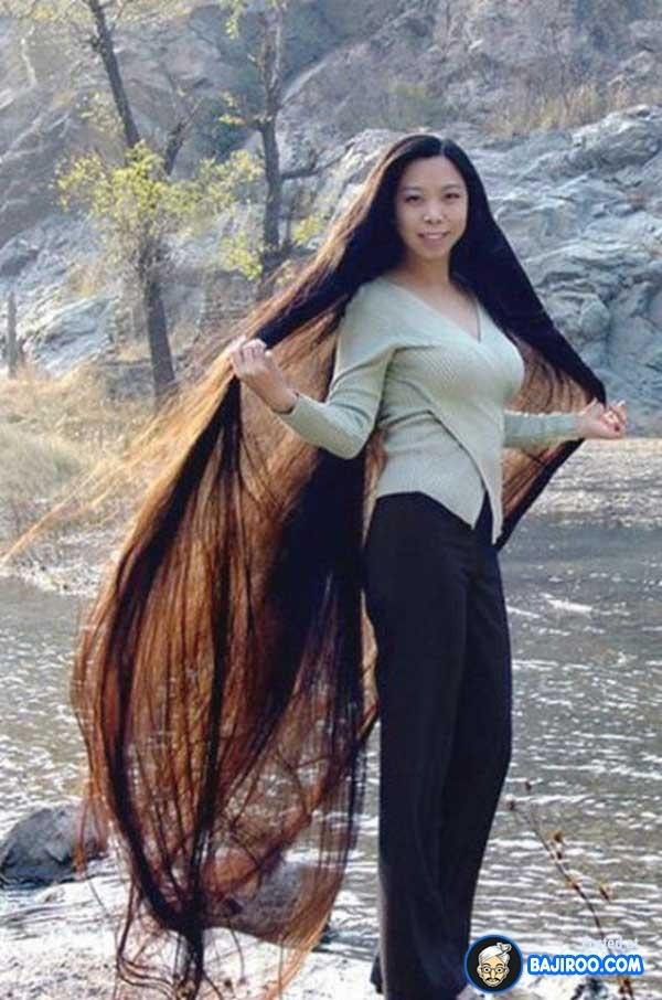 beautiful long hair drawing