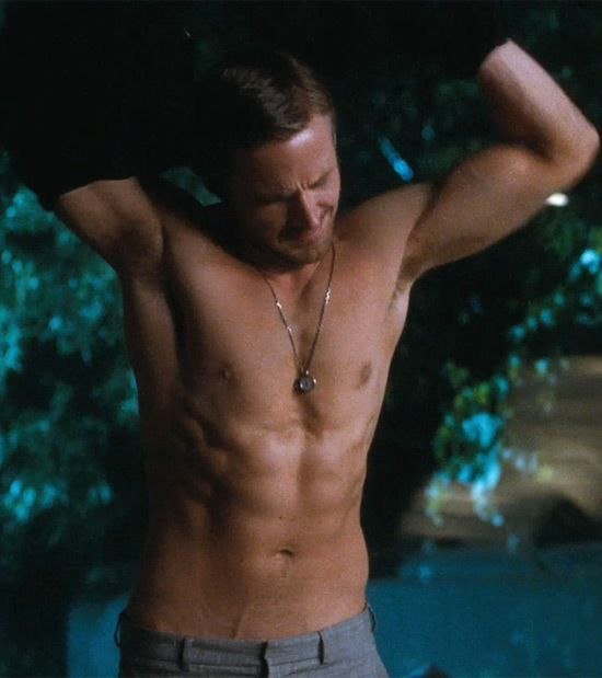 I watched this movie on the flight home from London exclusively for this scene. Hot.: Eye Candy, Abs, Museums, Christmas Presents, The Notebook, Ryan Gosling Shirtless, Hey Girls, Beautiful People, Caramel Apples