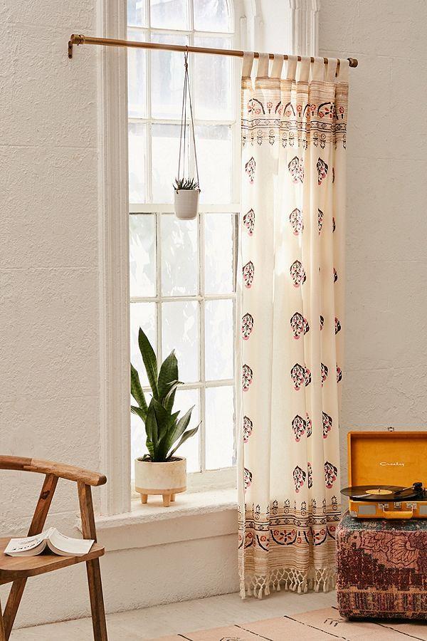 Mid Century Modern Wood Curtain Rod Curtains Window Panels Wood Curtain Rods