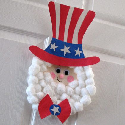 Paper Plate Uncle Sam