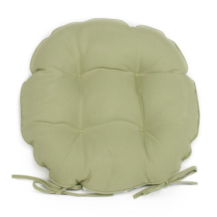 Coral Coast Classic 16 in. Round Bistro Outdoor Seat Cushion - Set of 2 Sage Green - M053-1B-AFS029-SAGE GREEN