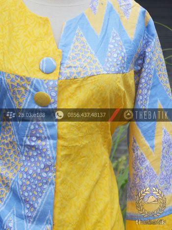 Model Baju Batik Modern Wanita Warna Kuning | Indonesian Unique Batik Tops Clothing for Women - Men http://thebatik.co.id/baju-batik/