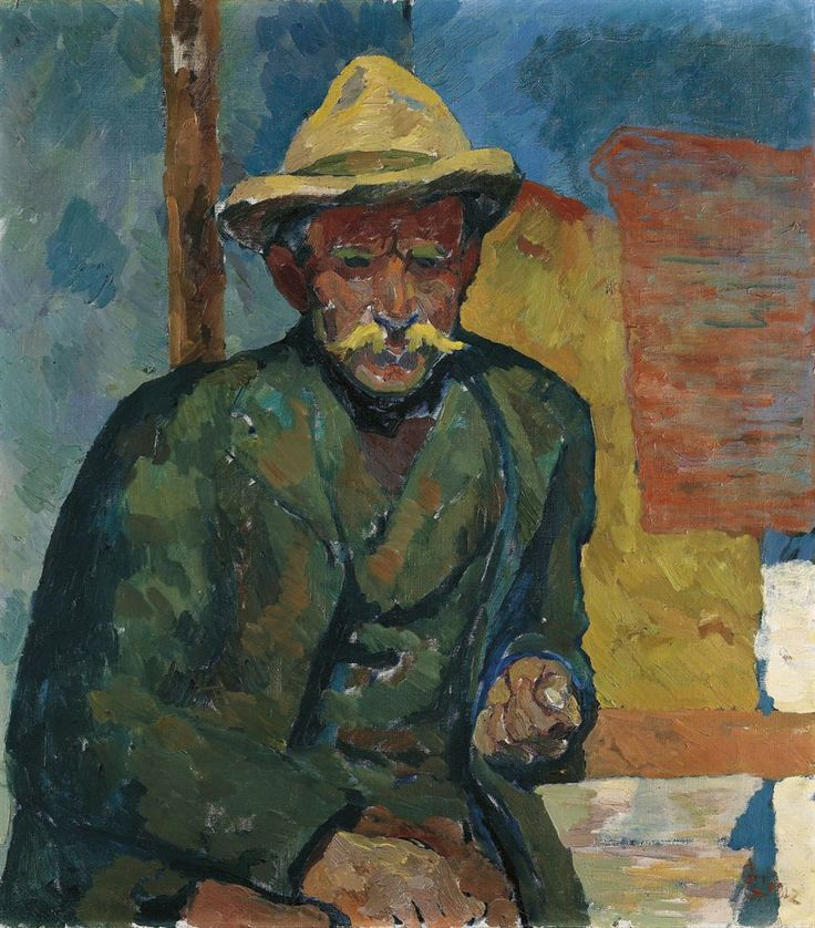 Giovanni Giacometti (Swiss, 1868-1933), Portrait of a farmer, 1912. Oil on canvas, 73 x 65cm.