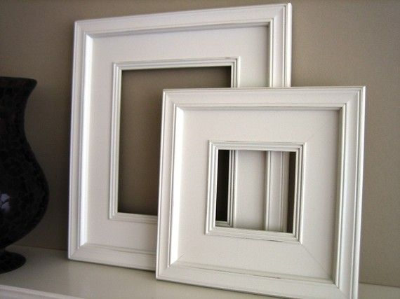 10x10 Plein Air Wide White Picture Frame  by ArtCityFrames on Etsy