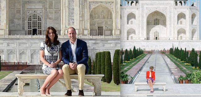 Kate Middleton e il principe William rendono omaggio alla principessa Diana con una foto al Taj Mahal  - Gioia.it