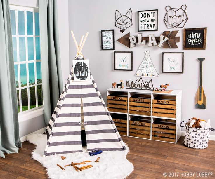 Give Your Little Explorer The Perfect Place To Play With A Woodland Themed Playroom