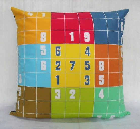 Decorative Pillow Cover Crossword Clue : Sudoku throw pillow PennyDell