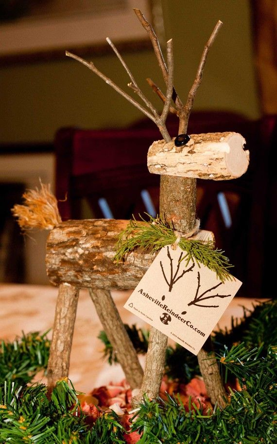 Wooden log reindeer plans woodworking projects plans Wooden outdoor christmas decorations