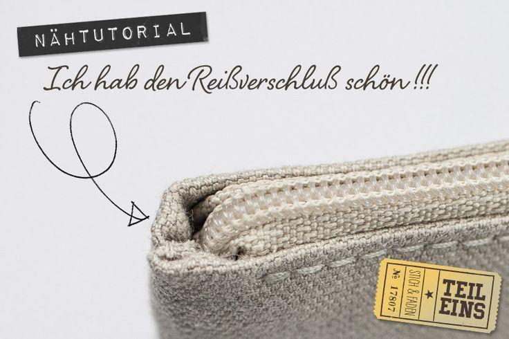 Anleitung Reißverschluß einnähen ohne Knubbel von Stich & Faden, Teil 1 Mehr