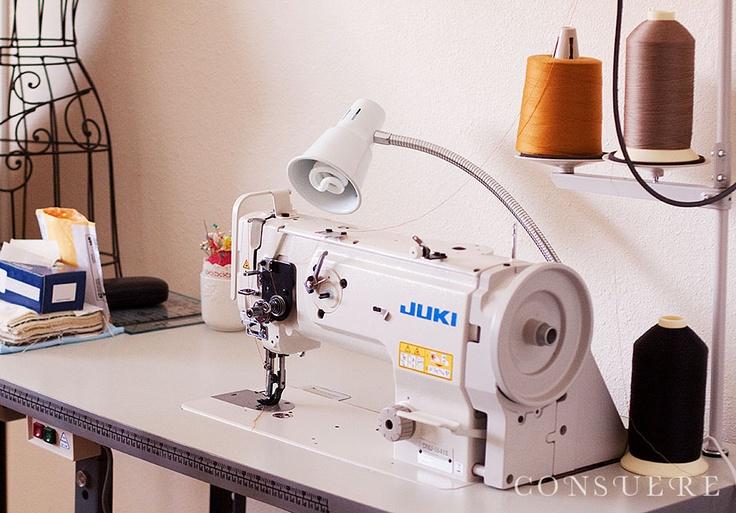 My new industrial sewing machine. I love it! It's a walking foot Juki DNU 1541S. So powerful!