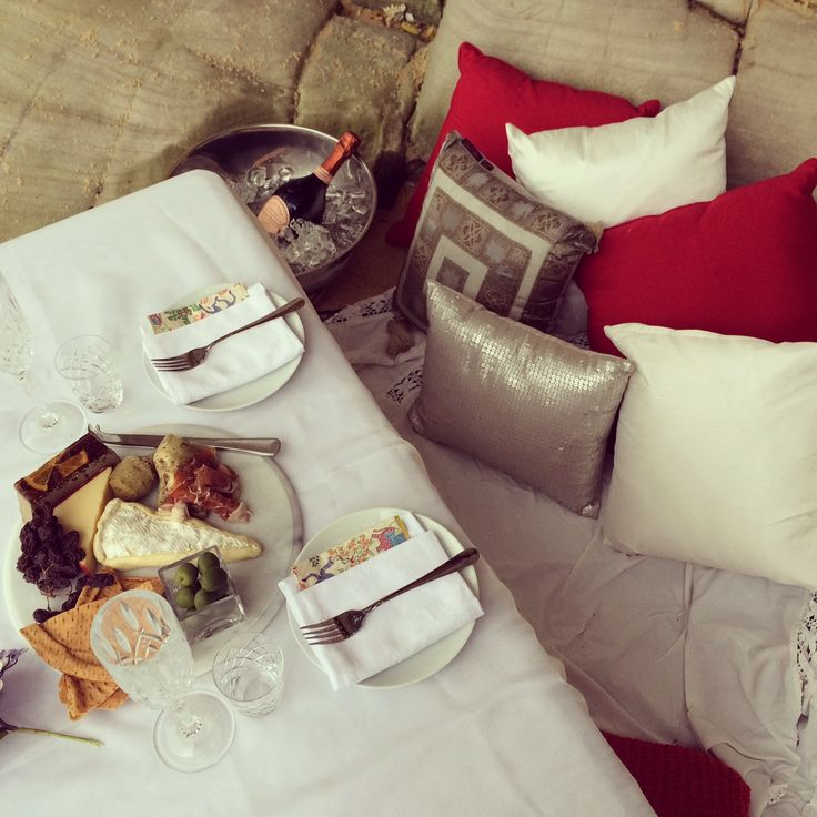 Champagne and Cushions