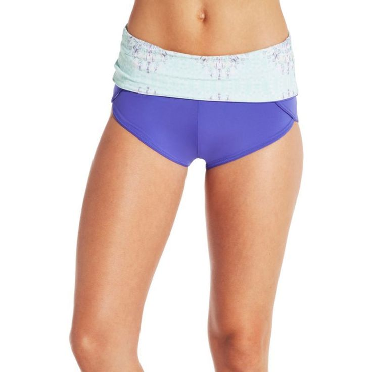 Calia by Carrie Underwood Reversible Boyshort Bikini Bottoms, Women's, Size: Medium, Blue