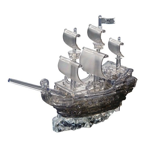 Crystal Puzzle Pirate Ship Black 3D