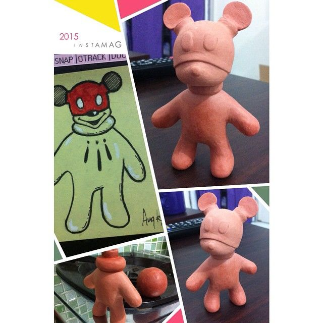"still a lot of work to do.. for this 3.5"" art toy/urban toy/designer toy ,hope i'll finish it soon"