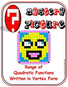 EMOJI - Quadratic Functions - Range of Quadratic Functions (Vertex Form)