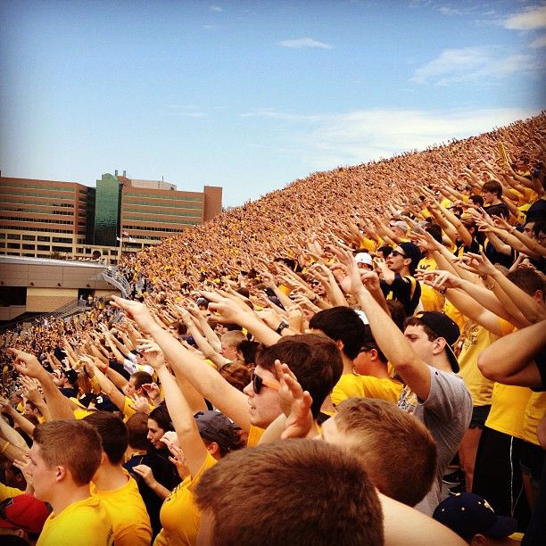 Student section at Saturday's #WVU football game. | Photo cred: @pgallagher9