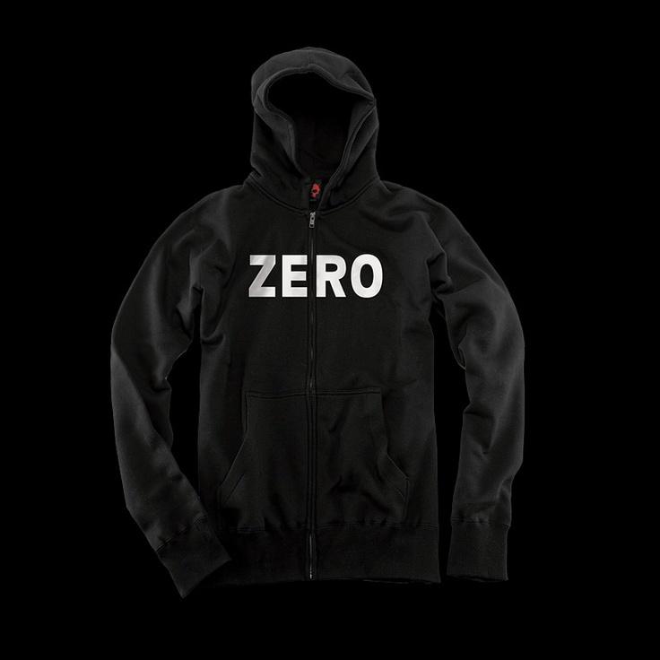 ZERO Skateboards Zip Hoodie TShirts & Apparel