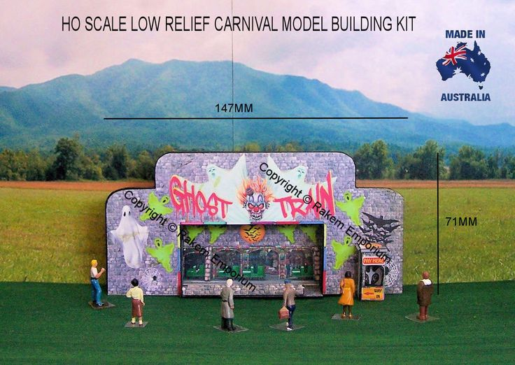 HO Scale Sideshow Low Relief Carnival Ghost Train - SSGT