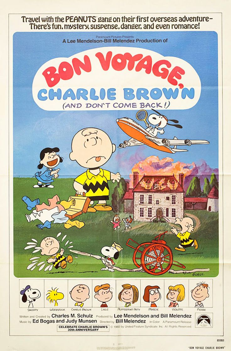 Bon Voyage, Charlie Brown (and Don't Come Back!) 1980 U.S. One Sheet Poster