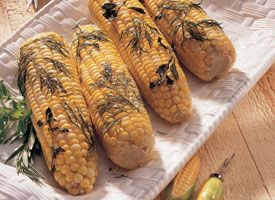 Baked Corn on the Cob with Herbs Recipe