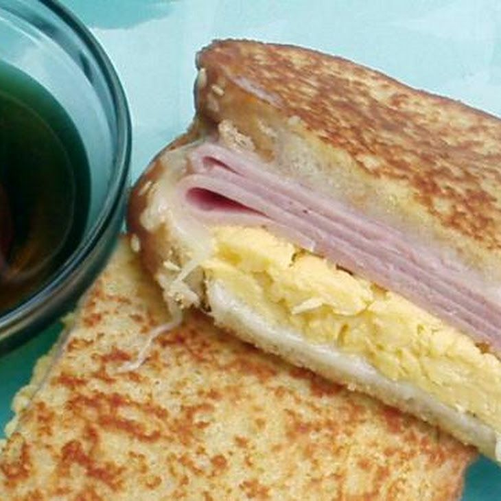 French Toast Breakfast Sandwich With Canadian Maple Syrup ...