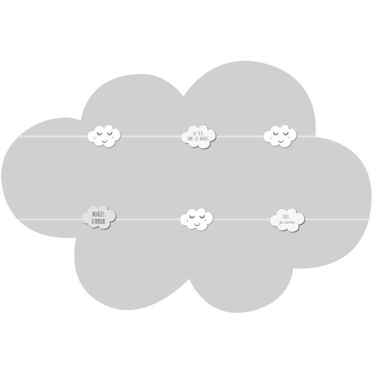 Le pêle-mêle Sur mon p'tit nuage 6 vues de la marque Titoutam vous permettra de glisser vos plus belles photos pour décorer la chambre de votre enfant !