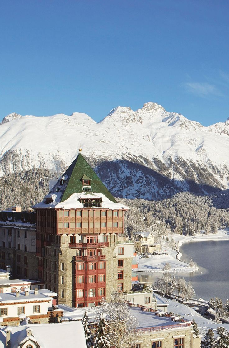 Badrutt's Palace Hotel, overlooking Lake St Moritz, Canton of Graubünden, Switzerland #baselshows