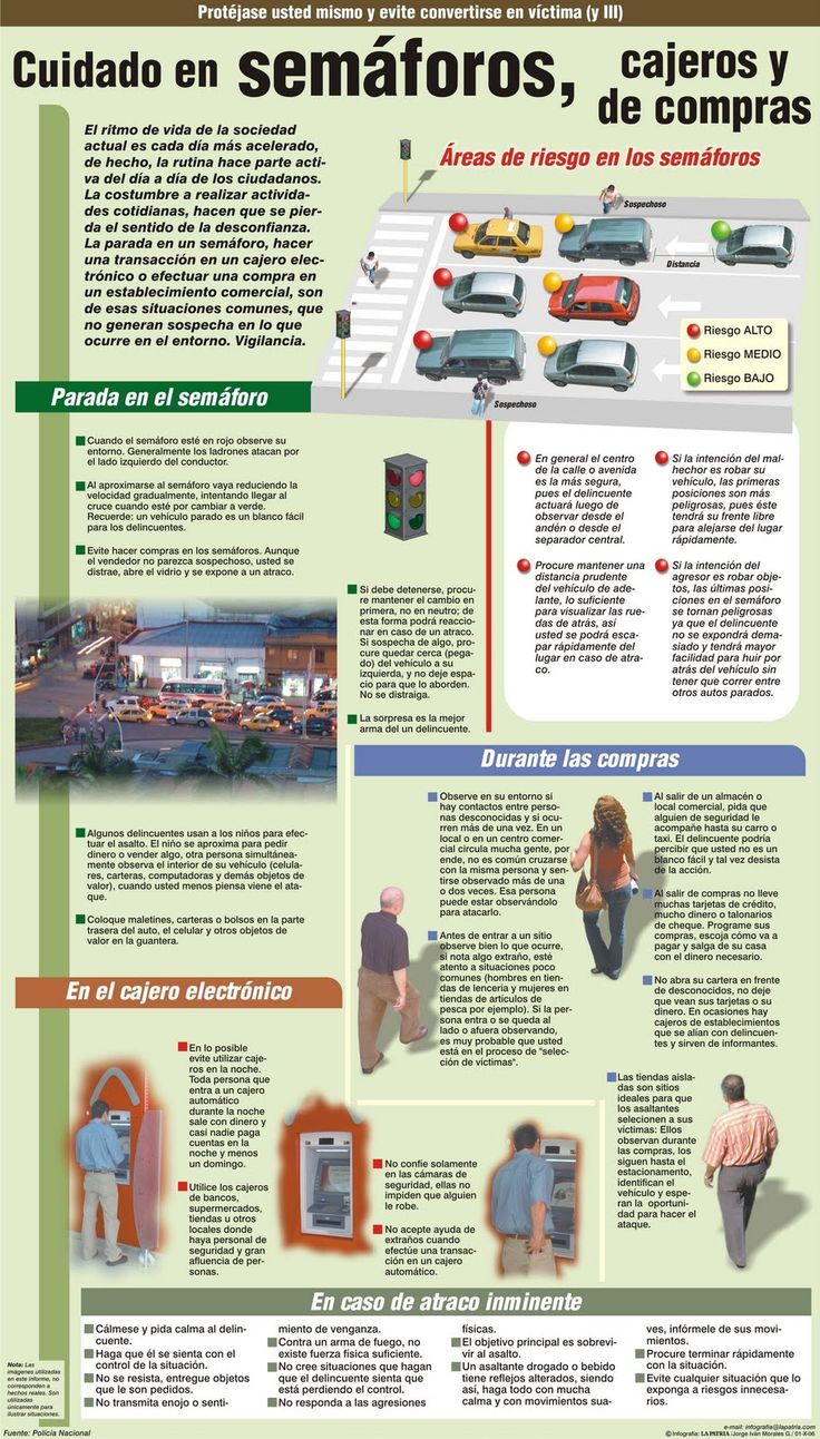 Tips de #seguridad urbana