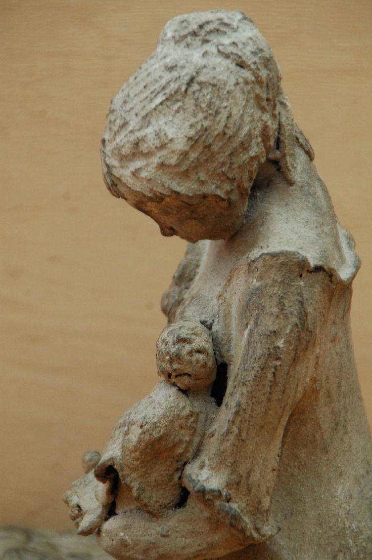 Sculpture d argile que j ai patinée à la cendre terre