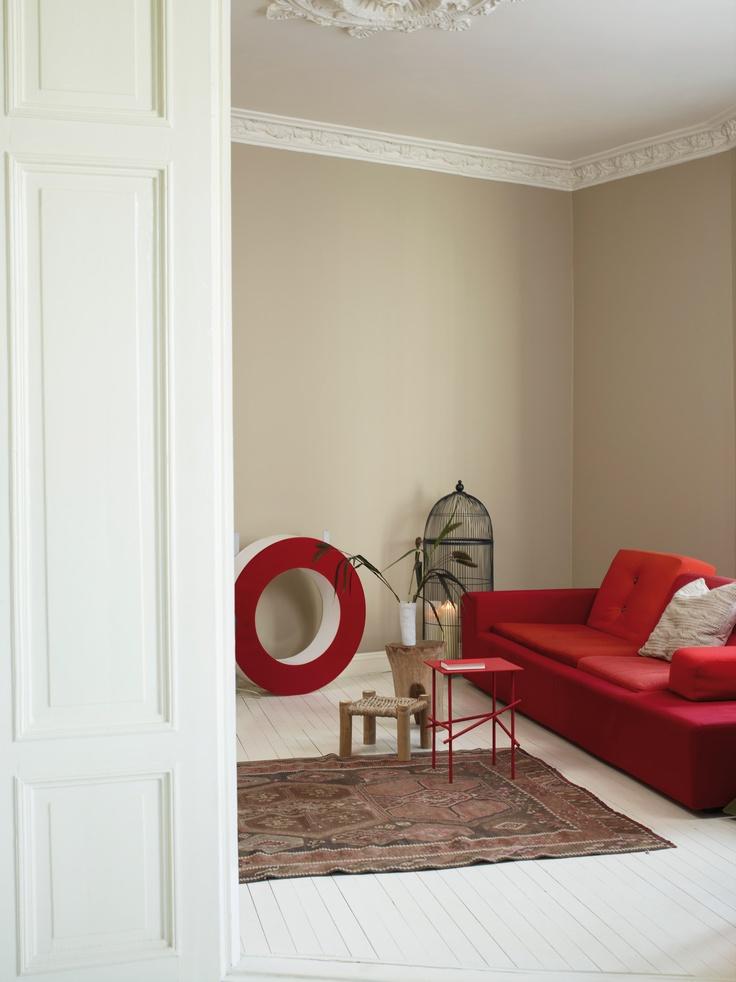 Tonalidades naturales que te ayudarán a crear un ambiente rústico y sosegado en tu hogar. Color Jotun 1226