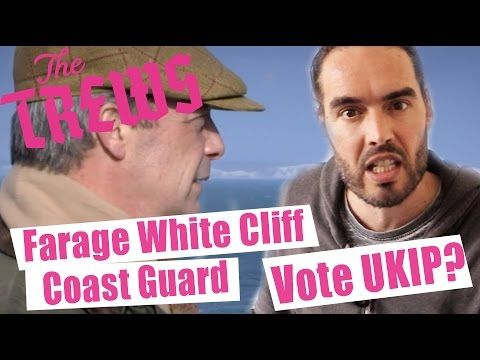 Farage White Cliff Coast Guard - Should We Vote UKIP? Russell Brand The ...